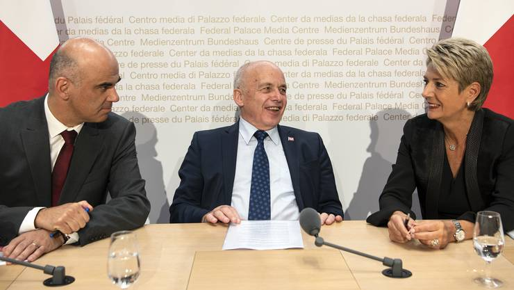 Berset, Maurer und Keller-Sutter – drei Bundesräte zum Abstimmungsergebnis.