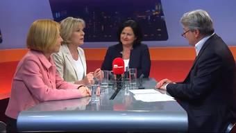 Solothurner Regierungsratskandidatinnen Susanne Schaffner, Brigit Wyss und Marianne Meister über Steuern bei Talk Täglich