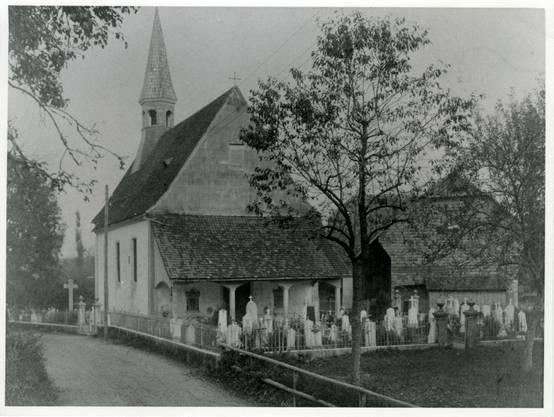 Die 1786 erbauten Kirche bis zu ihrem Umbau