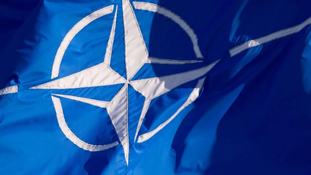 ARCHIV - Eine Flagge der Nato weht in Brüssel. Foto: Daniel Naupold/dpa