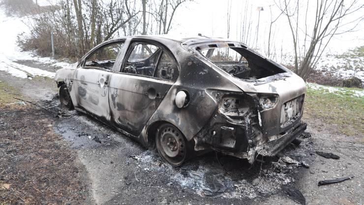 Ausgebranntes Auto in Brittnau gefunden