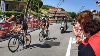 Zwei Spanier zusammen auf der Flucht: Etappensieger Omar Fraile am Hinterrad von Mikel Landa