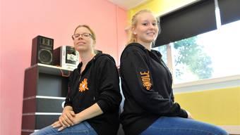 Auch sie machen mit: Rebekka Matter-Linder (l.) und Sandra Augstburger, Leiterinnen Jugendarbeit Unterleberberg.