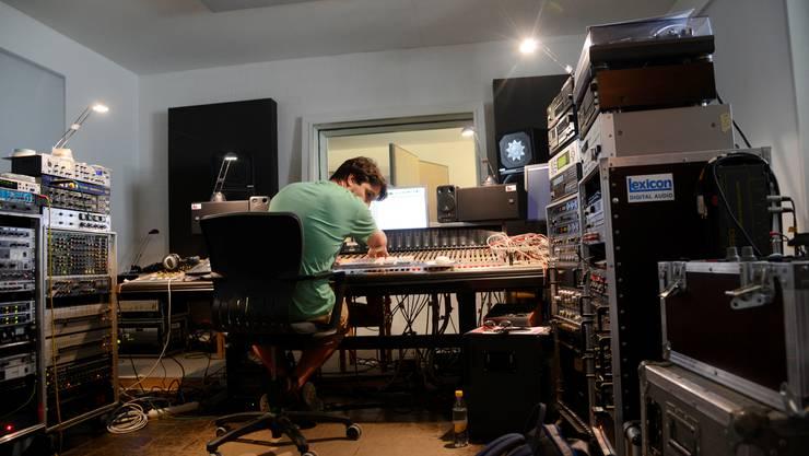 Aufnahmeraum des Tonstudios «PINK Bild und Ton» von Jürg Nägeli