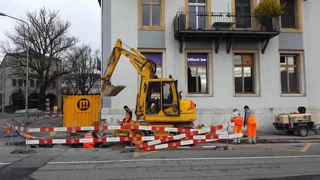 Beim Postplatz in Solothurn werden die Bushaltestellen umgebaut