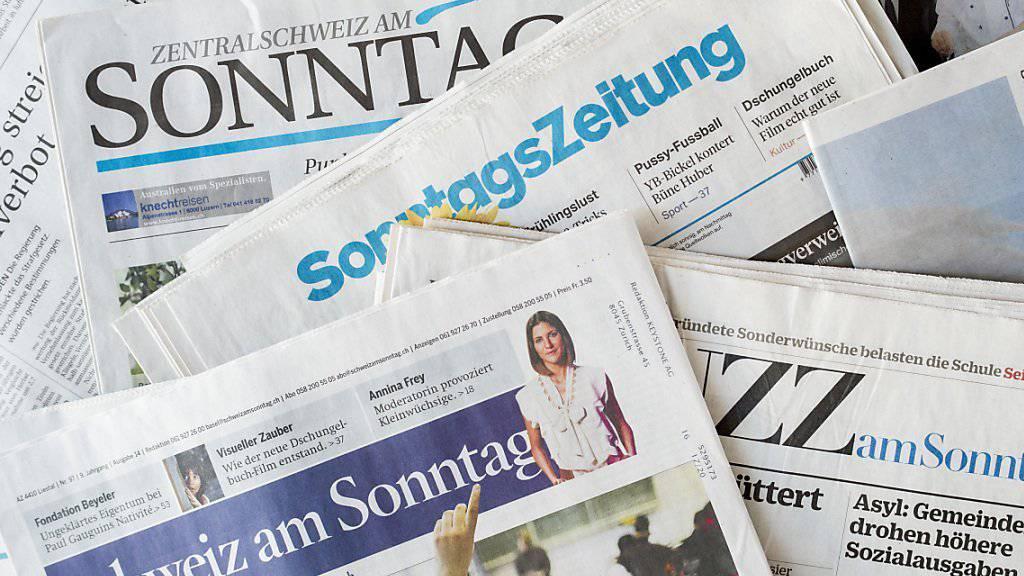 Eine Auswahl der Sonntagsblätter. (Symbolbild)