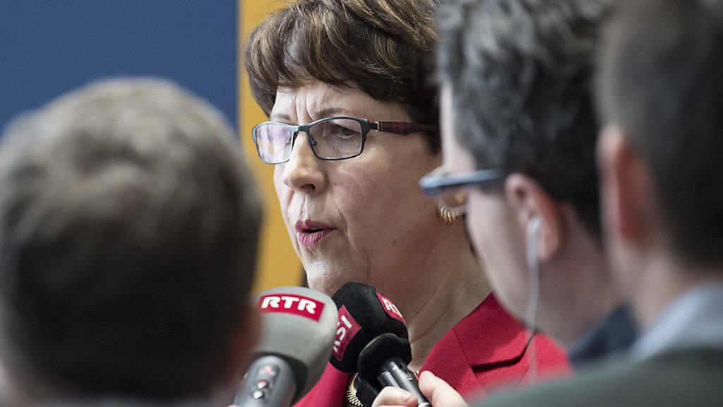 «Ich habe weder gelogen noch sonst etwas Falsches getan»: Susanne Ruoff, Konzernleiterin der Schweizerischen Post, zum Buchungsskandal bei Postauto. (Archivbild)
