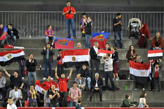 Zahlreiche ägyptische Fans wollten das Spiel gegen den FCB sehen