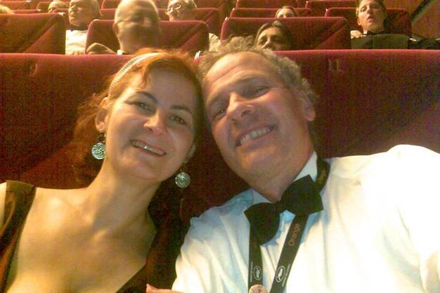 Niggi Messerli mit Ehefrau Alexandra Messerli am Filmfestival Cannes.