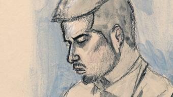 Der Angeklagte Thomas N. (hinten) und Verteidigerin Renate Senn am zweiten Prozesstag.