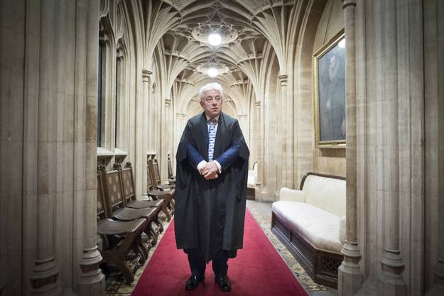The Right Honourable John Bercow, MP, Speaker of the House of Commons – Der recht ehrenwerte John Bercow, Abgeordneter und Sprecher des britischen Unterhauses.