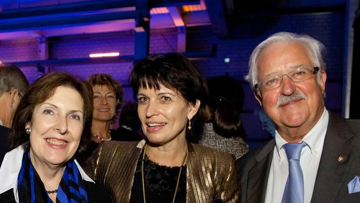 Werner Twerenbold hier zusammen mit CVP-Bundesrätin Doris Leuthard und der FDP-Ständerätin Christine Egerszegi vor vier Jahren an der 175-Jahr-Feier der AZ Medien im Badener Trafo.