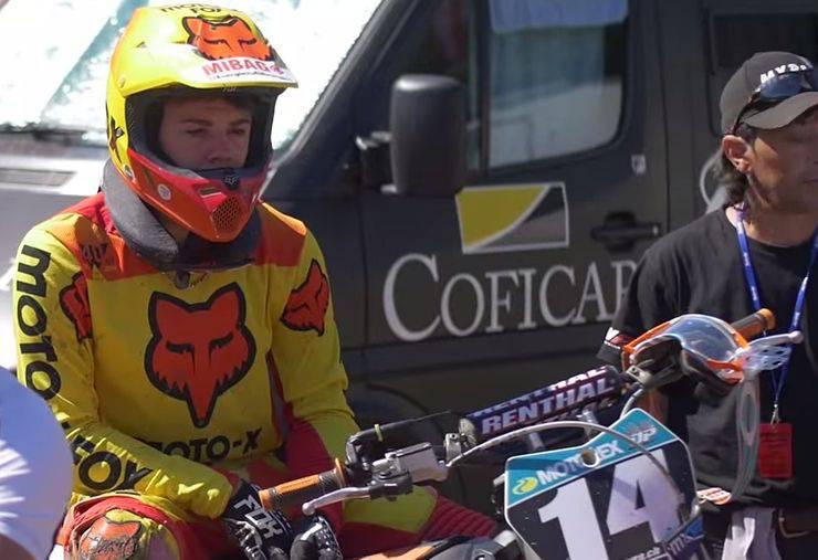 KTM Fahrer Maurice Chanton am Motocross Broc 2015