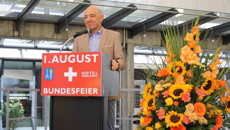 Daniel Jositsch sprach an der 1.August-Rede in Geroldswil.