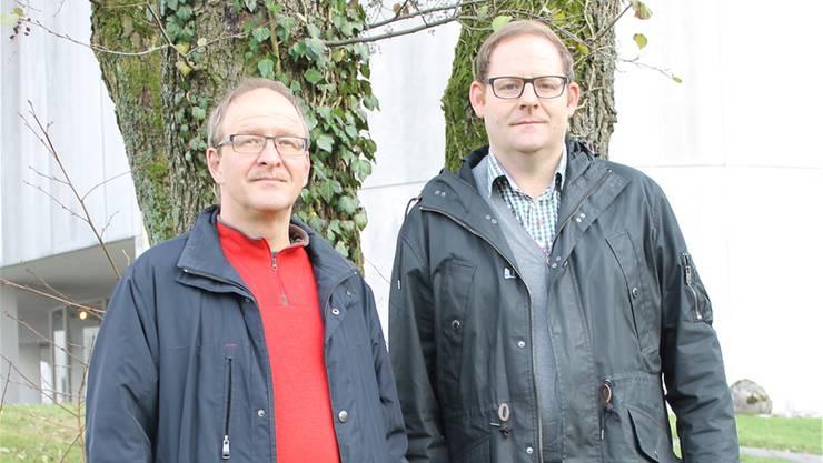 Der alte und der neue Kirchchorleiter Stefan Schmid (links) und Florian Kirchhofer.