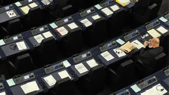 Budget genehmigt: Blick ins EU-Parlament in Strassburg (Archiv)