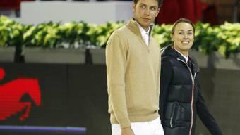 Bessere Zeiten: Martina Hingis und Thibault Hutin 2011 (Archiv)