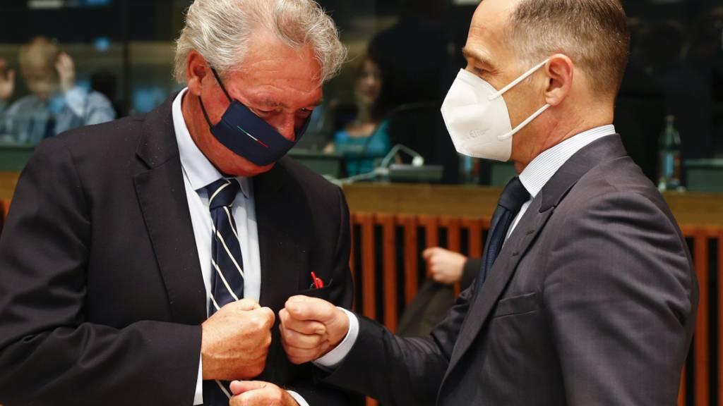 Luxemburgs Außenminister Jean Asselborn hier mit seinem deutschen Amtskollegen Heiko Maas. Foto: Johanna Geron/Pool Reuters/AP/dpa