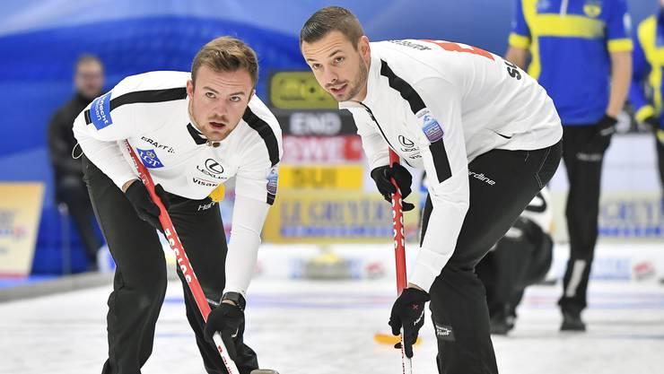 Romano Meier (l.) Marcel Käufeler (r.) wollen mit dem Team Bern Zähringer die Schweizer Meisterschaft gewinnen.