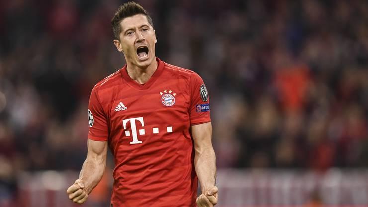 Der Goalgetter schlechthin: Robert Lewandowski schiesst die Bayern in Front.