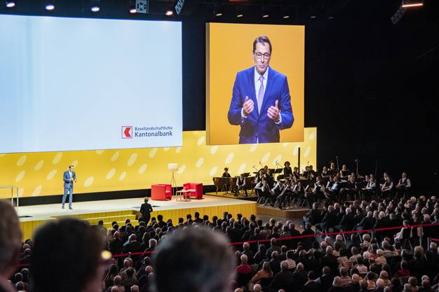 Der neue Präsident der Basellandschaftlichen Kantonalbank, Thomas Schneider, referierte unter anderem über Veränderungen und Innovation.