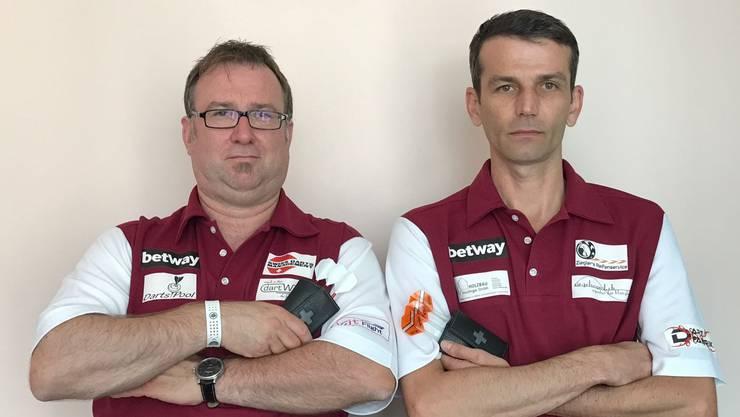 Die Pfeilgenossen: Patrick Rey (links) und Philipp Ruckstuhl.