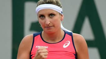 Entschlossen zum Sieg: Timea Bacsinszky steht am French Open wie in den letzten beiden Jahren im Achtelfinal