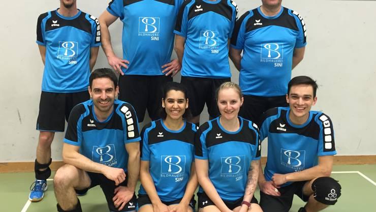 von links nach rechts Marc, Michi, Sacha, Nigar, Paul (Coach u. Spieler), Silke, Stefan. David (auf dem Bild fehlt Dario)