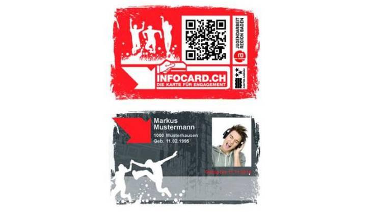 So sieht die Infocard für Jugendliche und junge Erwachsene aus.