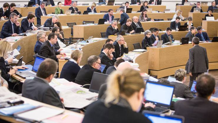 Der Grosse Rat tagt im Grossratsgebäude in Aarau.