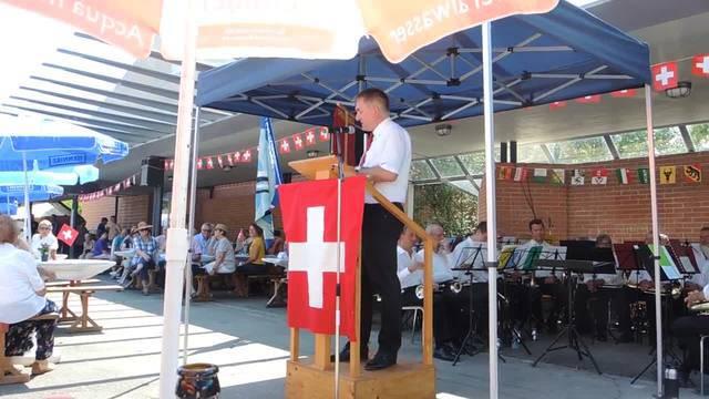 Alex Hürzeler in Untersiggenthal.