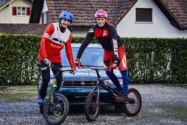 Adi Weber und Mathias Hilfiker zeigen ihre Tricks