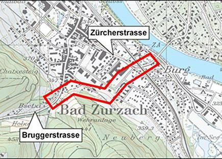 Korridor der Ostumfahrung von Bad Zurzach