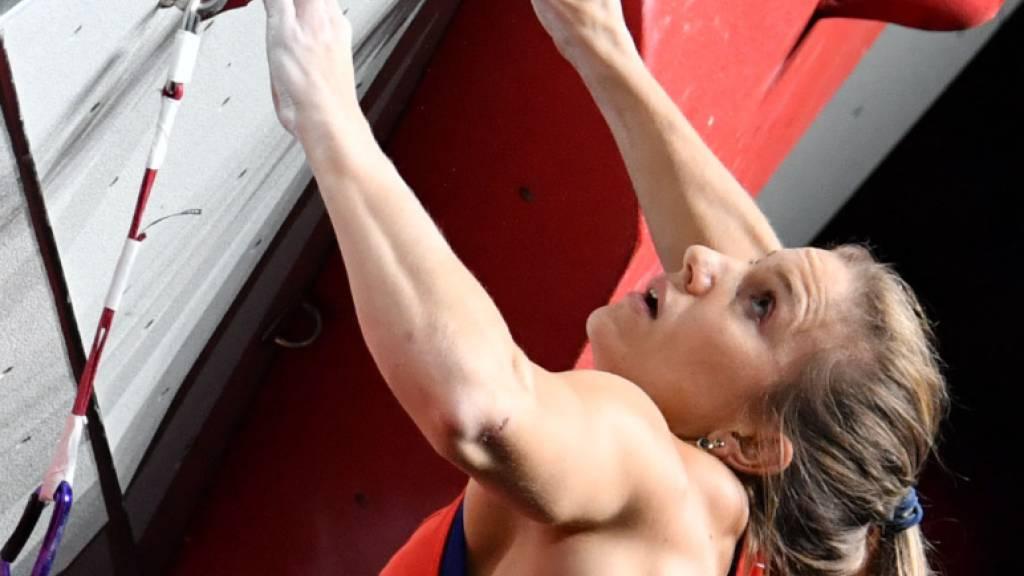 Vorerst ausser Gefecht gesetzt: Sportklettererin Petra Klingler