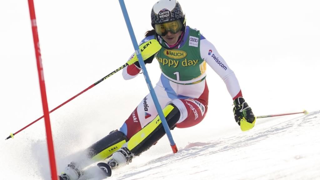 Wendy Holdener wird im Slalom Zweite