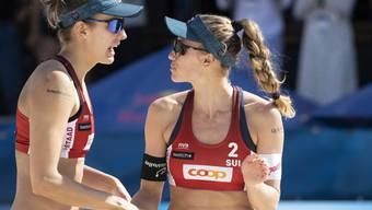 Tanja Hüberli (links) and Nina Betschart sind an der EM in Lettland die Nummer 1 im Frauentableau