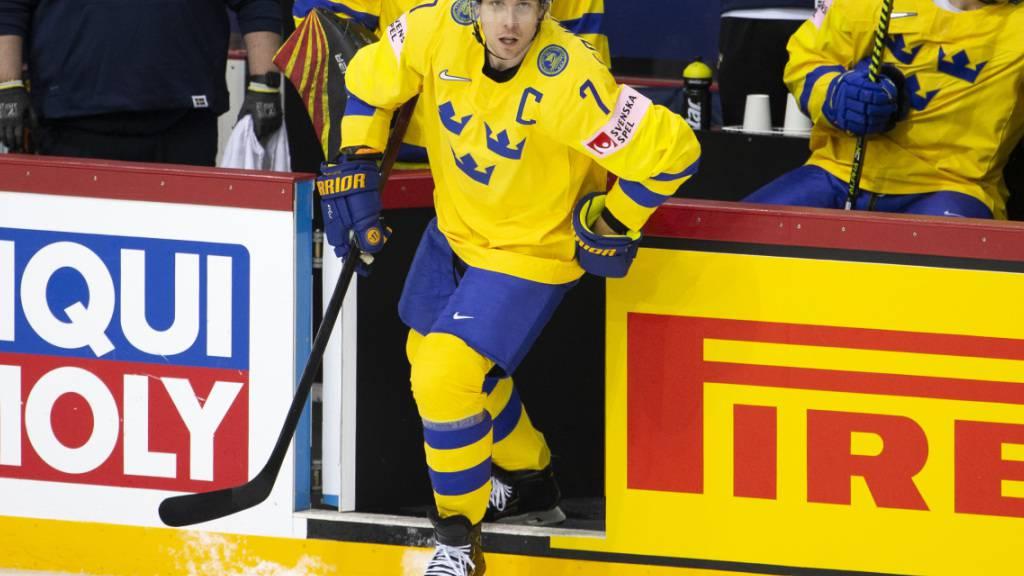 Henrik Tömmernes, Verteidigungsminister bei Genf-Servette, muss als Captain das schwedische WM-Team aus der Krise führen