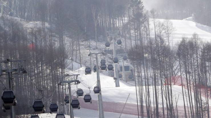 Auf diesem Hang in Jeongseon (Südkorea) wird in zwei Jahren um die olymischen Medaillen gefahren