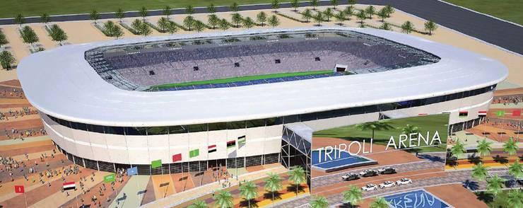 Zu guter Letzt entstand auch das Stadion in Tripolis in Lybien dank Nüssli.