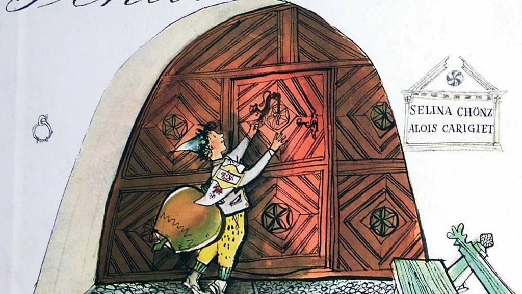 Einband des von Alois Carigiet illustrierten und Selina Chönz getexteten Kinderbuchs Schellen-Ursli.
