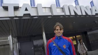Die Spieler des FC Basel sind in Tallinn angekommen