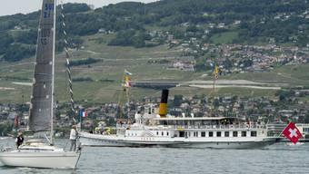 """Das aus der Belle Epoque stammende Dampfschiff """"Vevey"""" (Archiv)"""