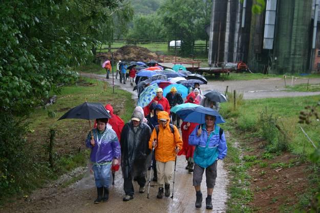 Die 70 Wanderer liessen sich vom Regen nicht verdriessen