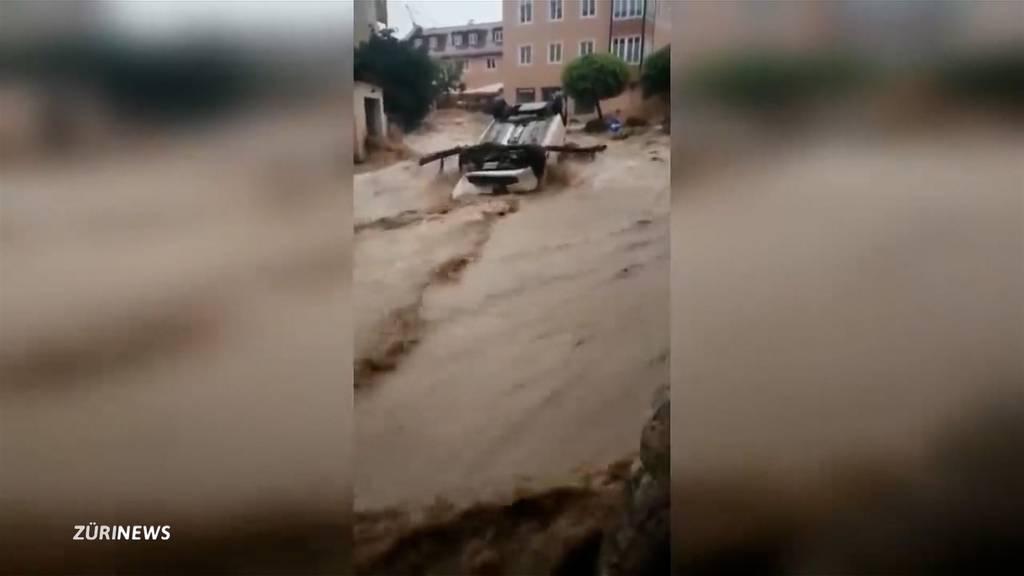 Schwere Überschwemmungen in Österreich