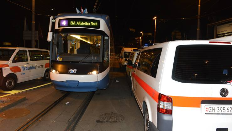 Unfall an Zürifest 2013: Tramkollision am Hauptbahnhof