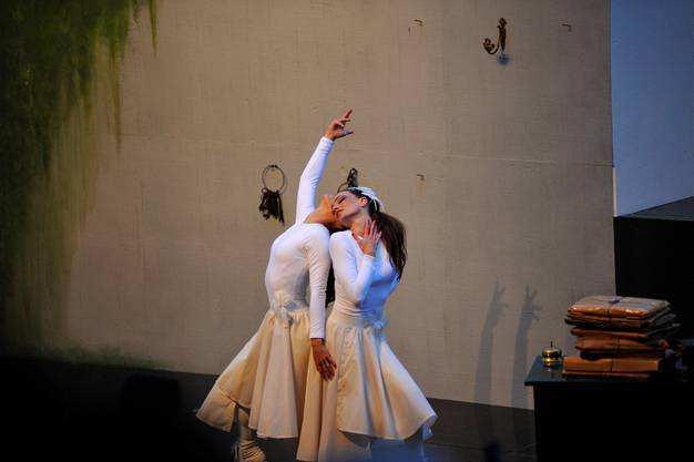Premiere zur Operette die Fledermaus im Burghof Burgäschi.