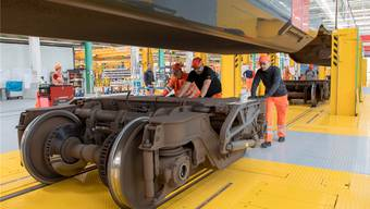 Besonders bei Zug-Modernisierungen – wie hier in Olten – sind Temporäre im Einsatz.Marcel Bieri/Keystone (Symbolbild)