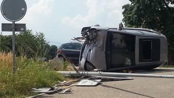 Unfall auf der Bernstrasse in Oftringen.