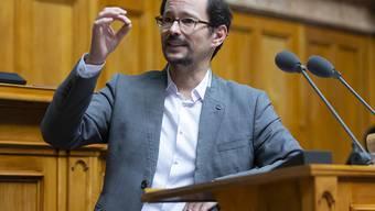 Die Grünen lehnen die Kampfjet-Vorlage ab. Fraktionschef Balthasar Glättli (ZH) sprach von einem Blankocheck über 24 Milliarden Franken.