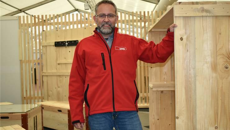 Bauchef Daniel Kopp zieht ein positives Zwischenfazit: «Der Aufbau lief bisher planmässig.»